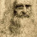 Da Vinci Self Portrait Remastered By Da Vinci by Tony Rubino