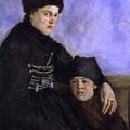 Dachau Woman And Child by Wilhelm Leibl