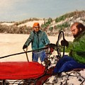 Dad And Denny In A Winter Field by Diane Donati