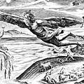 Daedalus Escaping From Crete With His Son, Icarus, Sees Him Falling To His Death by French School