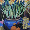 Daffodills And Fruit by Doris  Lane Grey