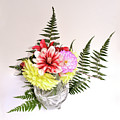 Dahlia Vase Still Life by Hewett Beasley
