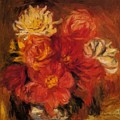 Dahlias by Renoir PierreAuguste