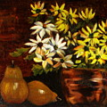 Daisies And Pears by Lia  Marsman