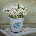Daisies And Porcelain by Angeles M Pomata