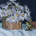 Daisies In Still Life by Patty Strubinger
