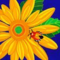 Daisy And Shieldbug by Lucyna A M Green