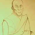Dalai Lama. by Corinne de la Garrigue