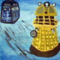 Dalek On Blue by Elizabeth Arthur