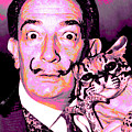 Dali With Ocelot And Cane by Joy McKenzie