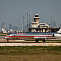 Dallas Airport And Skyline by Terri Morris