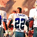 Dallas Cowboys Triplets by Paul Van Scott