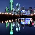 Dallas Dark Blue Night by Frozen in Time Fine Art Photography