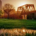 Dallas Golden Morning Light - Trinity Skyline Trail by Gregory Ballos