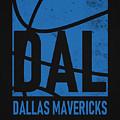 Dallas Mavericks City Poster Art by Joe Hamilton