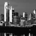 Dallas B W Skyline 05818 by Rospotte Photography