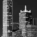 Dallas Shapes Monochrome by Rospotte Photography