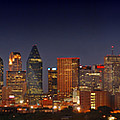Dallas Skyline At Dusk  by Jon Holiday