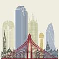 Dallas Skyline Poster by Pablo Romero