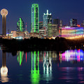 Dallas Skyline Reflection 91317 by Rospotte Photography