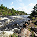 Dalles Rapids French River Iv by Debbie Oppermann