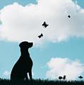 Dalmatian Dog Silhouette by Amanda Elwell