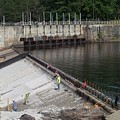 Dam Repairs  Along The Androscoggin River by Mike Breau