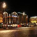 Dam Square Late Night - Amsterdam by Paul Childress