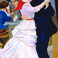 Dance At Bougival After Renoir by Rodney Campbell