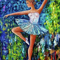 Dance In The Rain Of Color  by OLena Art Brand