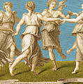 Dance Of Apollo With The Nine Muses by Photo Researchers