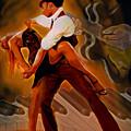 Dance Scene Xv by  Fli Art