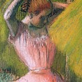 Dancer Arranging Her Hair by Edgar Degas