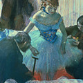 Dancer In Her Dressing Room by Edgar Degas