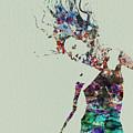 Dancer Watercolor Splash by Naxart Studio