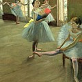 Dancers In The Classroom by Edgar Degas