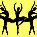 Dancing Ballerinas Silhouette by Irina Sztukowski