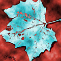 Dancing Blue Leaf by Carolyn Saine