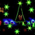 Dancing Christmas Trees Seasons Greeting by Kay Brewer