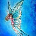 Dancing Fairy In Blue Sky by Sofia Metal Queen