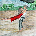 Dancing In The Rain On The Beach by Kathy Marrs Chandler