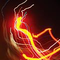 Dancing Light Streaks-1 by Steve Somerville