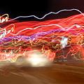 Dancing Light Streaks-2 by Steve Somerville
