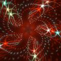 Dancing Red Flower Star In Motion by Mariia Kalinichenko