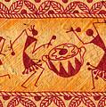 Dancing Warlis by Subhash Limaye