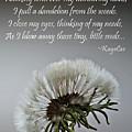 Dandelion Dreams- Fine Art And Poetry by KayeCee Spain
