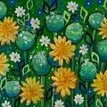 Dandelions In People's Park by Teodora Totorean