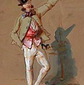 Dandy In Paris by Gavarni Paul