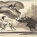 Danger De Porter Des Jupons-ballons... by Honor? Daumier