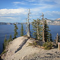 Dangerous Slope At Crater Lake by Carol Groenen